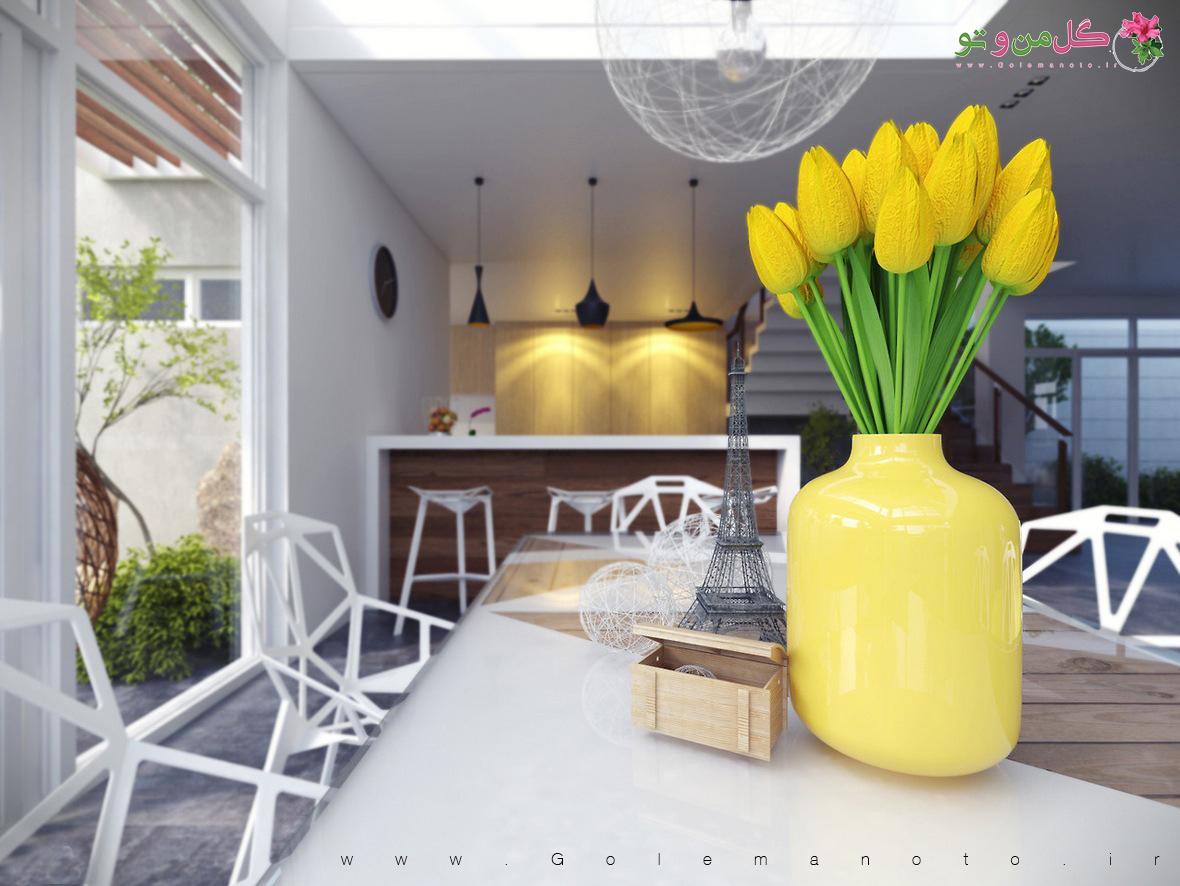 گل من و تو - گلدان آشپزخانه