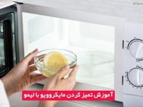 روش تمیز کردن مایکروویو با لیمو