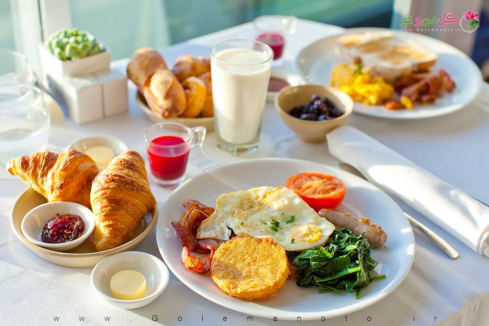 خوردن صبحانه - گل من و تو