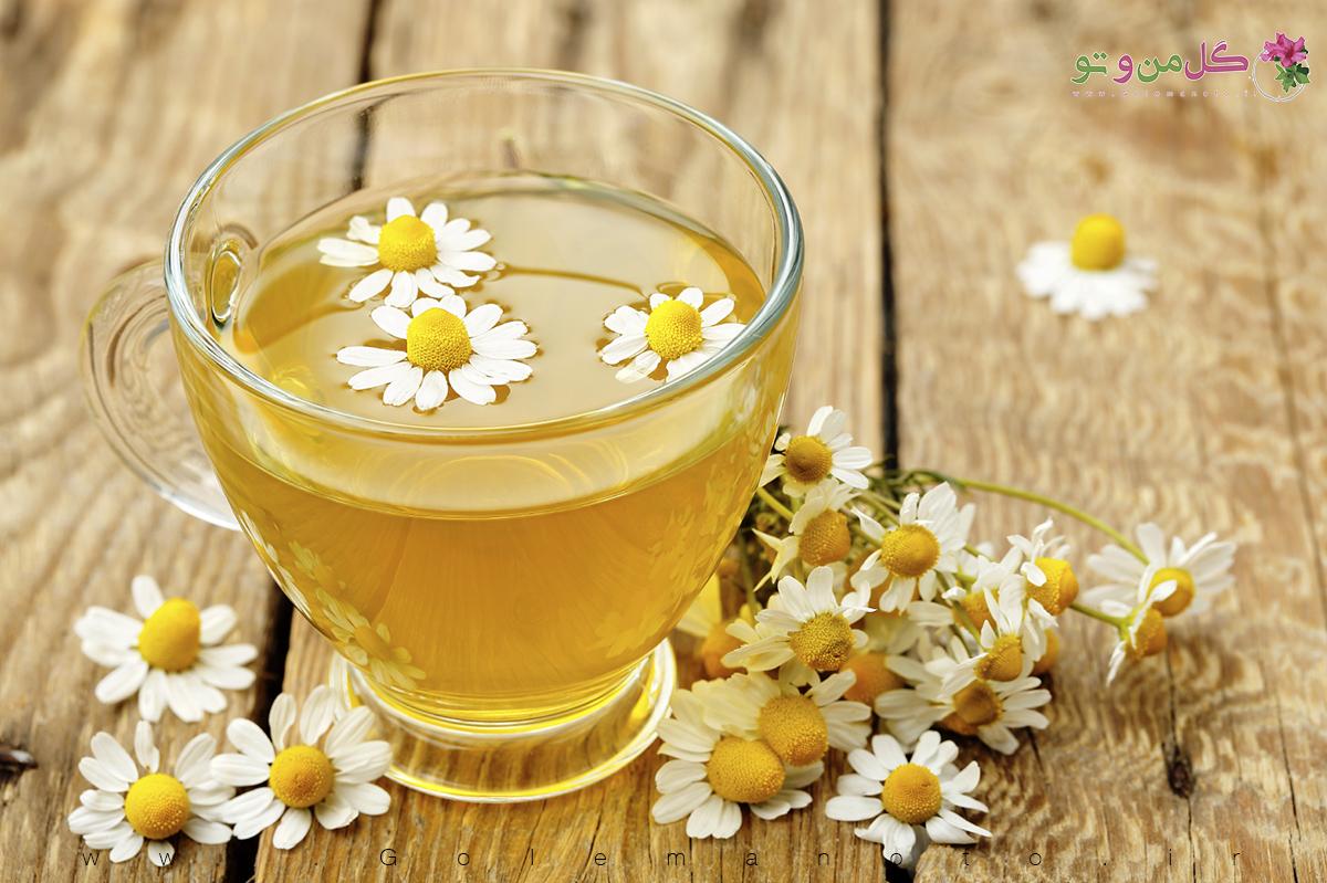 خواص درمانی چای بابونه-گل من و تو