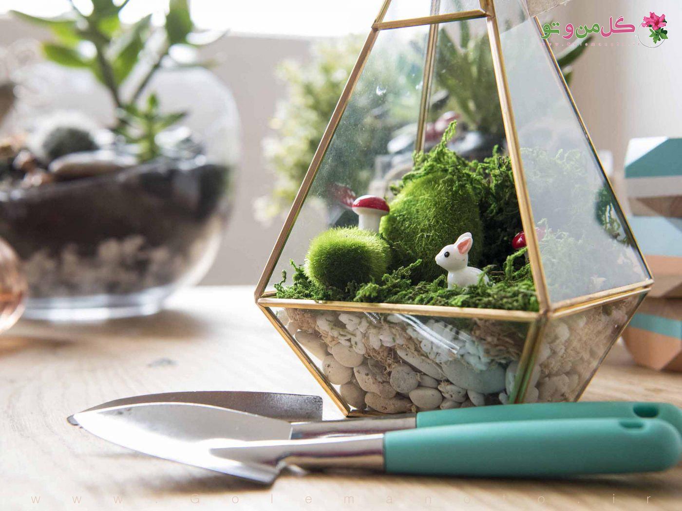 آموزش تصویری ساخت باغ شیشه ای