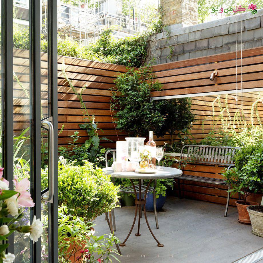 ساخت پاسیو زیبا با گل و گیاه