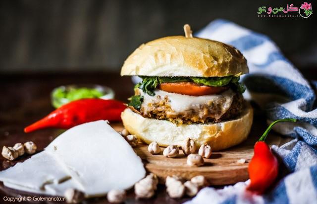 همبرگر گیاهی - همبرگر راو Raw Burger