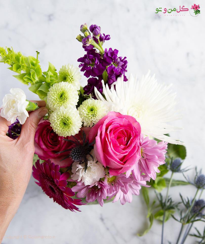 گلدان هندوانه ای - ساخت گلدان از هندوانه
