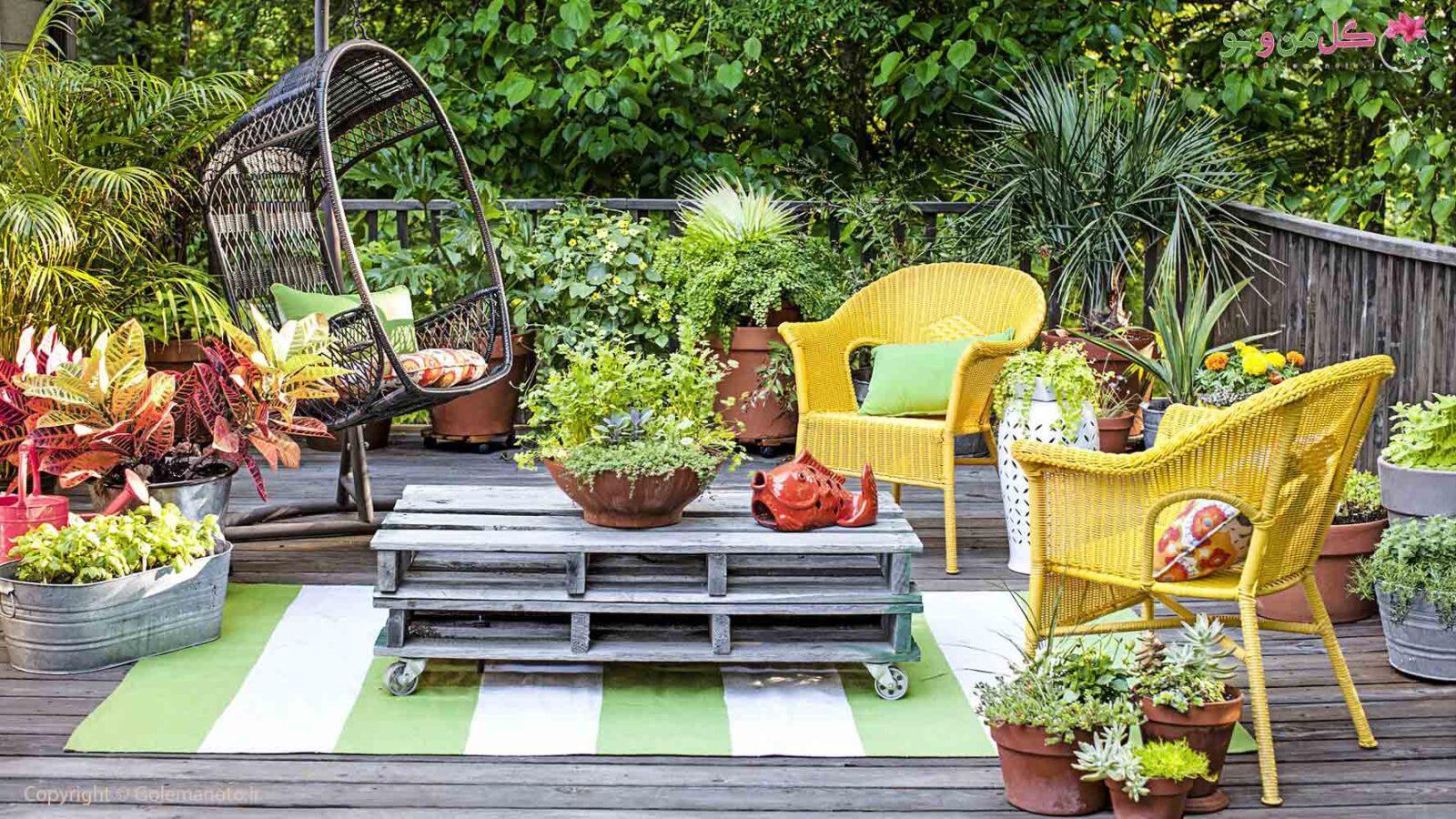 5 ایده ناب برای تزئین باغ کوچک
