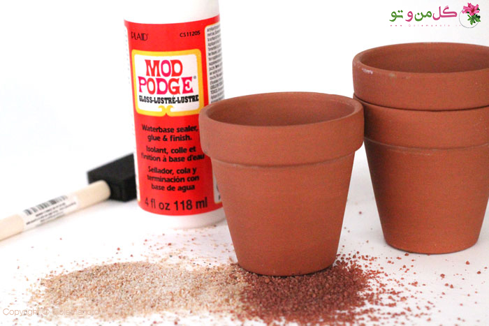 مواد لازم برای ساخت گلدان شنی