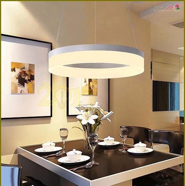 2017 moderno led luces colgantes para comedor شیکترین تزیین میز نهارخوری + مدل های 2018