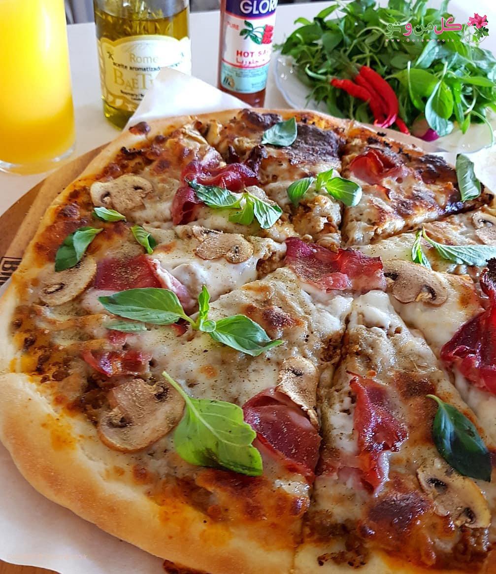 خمیر پیتزای ایتالیایی