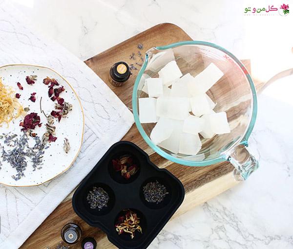 ساخت صابون خانگی - ذوب کردن صابون گلیسیرین