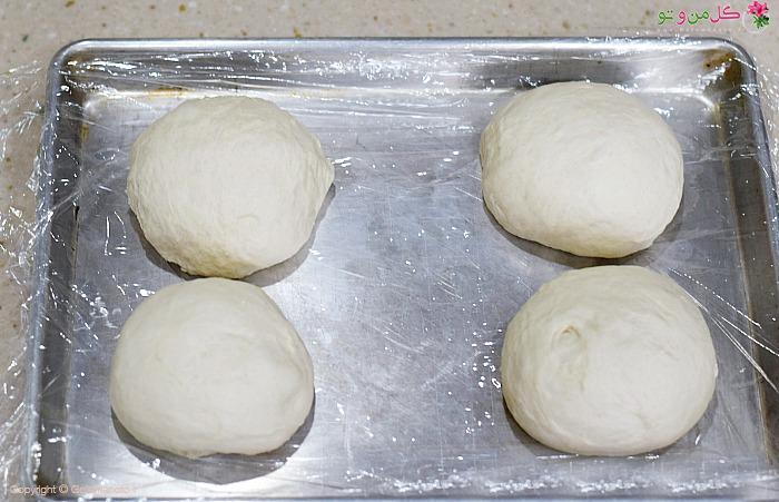 درست کردن چانه خمیر پیتزا