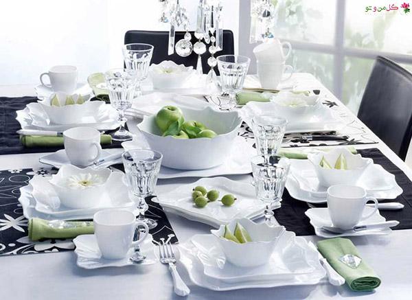 authentic blanc شیکترین تزیین میز نهارخوری + مدل های 2018