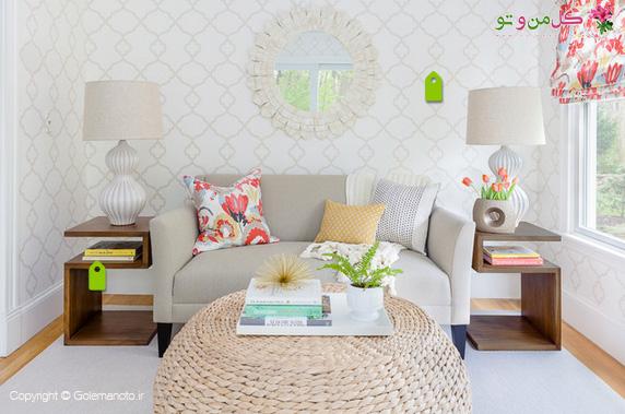 مبلمان زیبا برای اتاق نشیمن