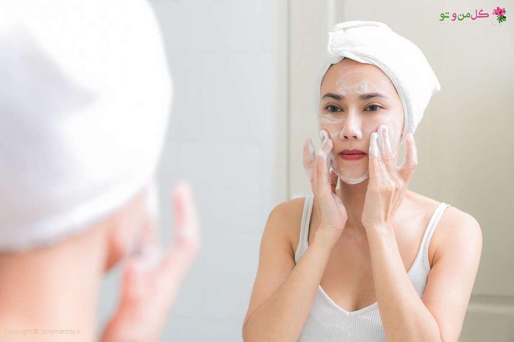 به صورت مرتب صورت خود را بشورید