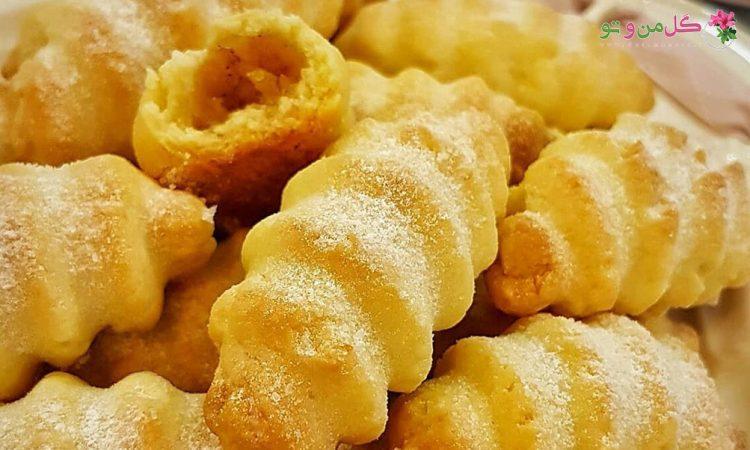 طرز تهیه قرابیه سیب - شیرینی قرابیه سیب