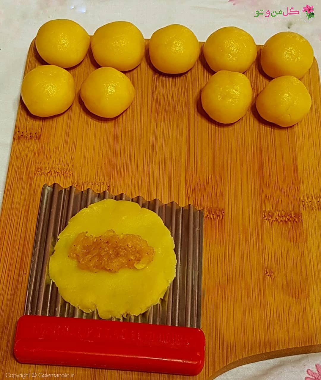 مراحل درست کردن قرابیه سیب
