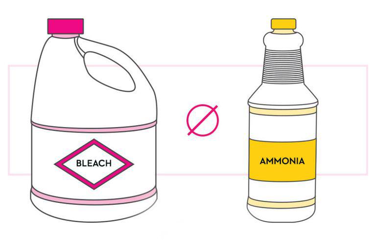 ترکیب آمونیاک با سفید کننده