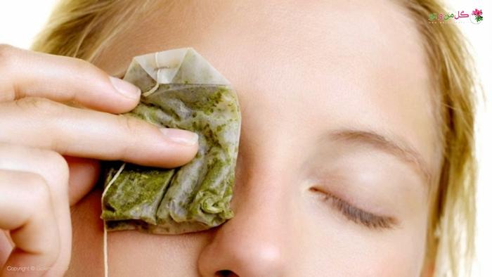 چای کیسه ای، ماسک چشم