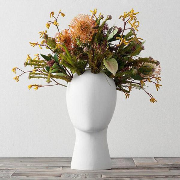های خاص الهام گرفته از سر انسان3 گلدان های خاص مخصوص دکوراسیون خاص