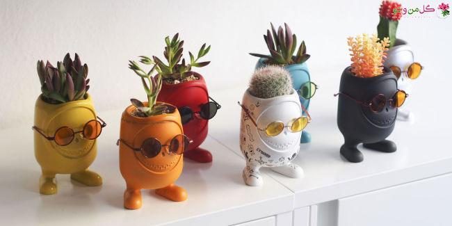 خلاقیت در گلدان های هیولایی