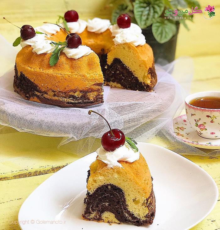 طرز تهیه کیک موج دار