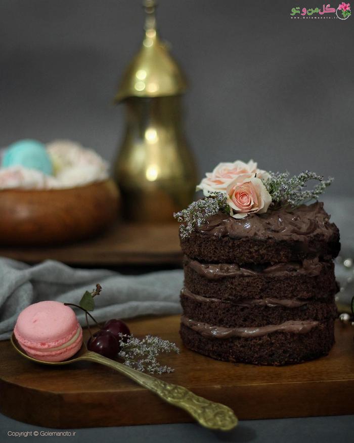 کیک شکلاتی خانگی