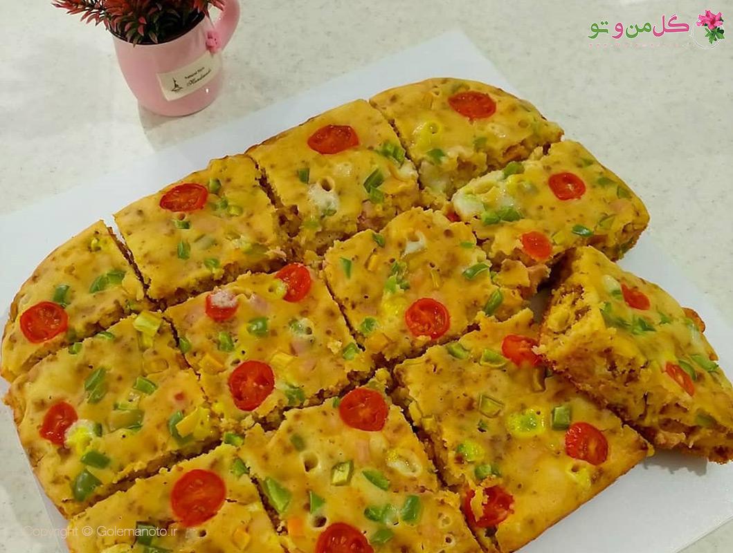 طرز تهیه کیک پیتزایی