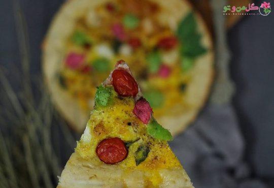 طرز تهیه پیتزای املت - املت پیتزایی