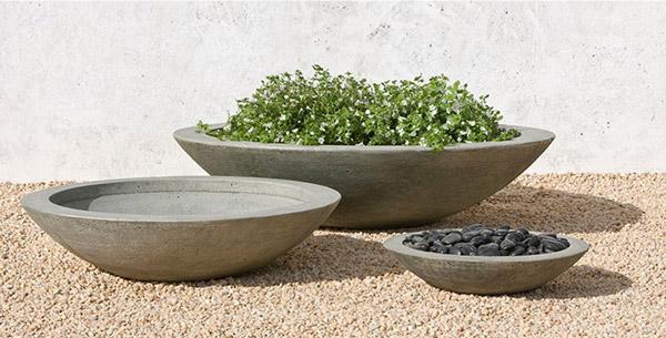 Low Zen Bowl Garden Planter Set گلدان های خاص مخصوص دکوراسیون خاص