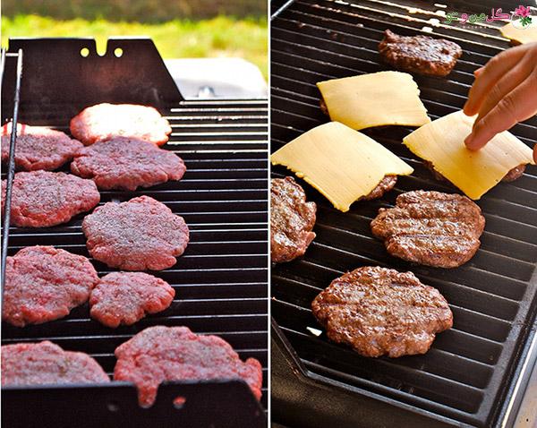 گریل کردن همبرگر خانگی با سویا