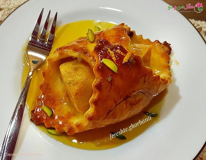 پودینگ سیب زمینی با سس پرتقال