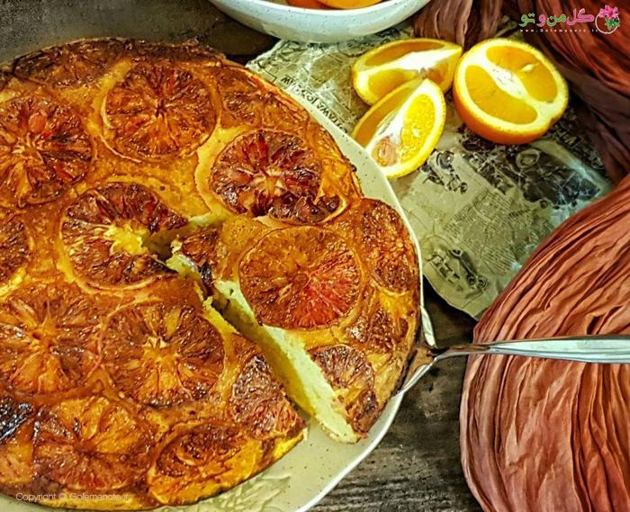 کیک پرتقال برگردان