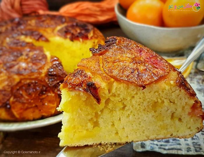 کیک پرتقالی برگردان