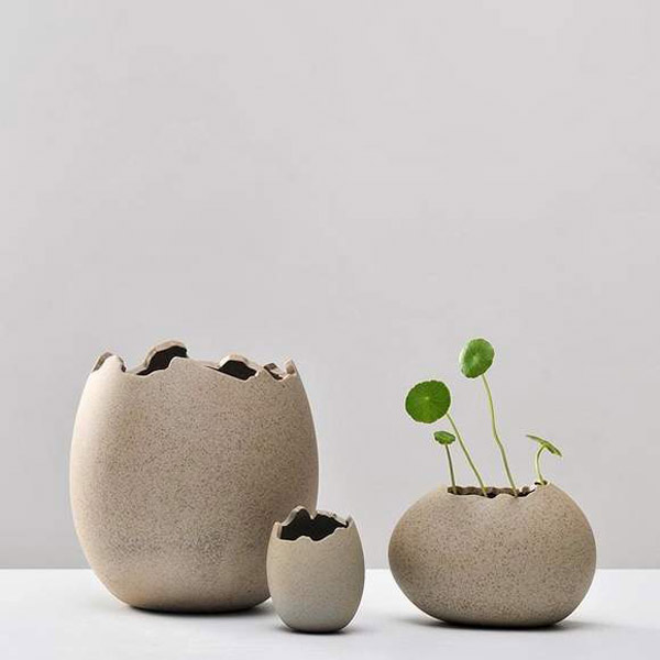 imitation eggshell nest ceramic flower pot flowers new arrivals modern market گلدان های خاص مخصوص دکوراسیون خاص