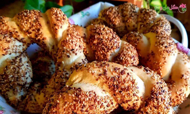طرز تهیه نان سیمیت خانگی