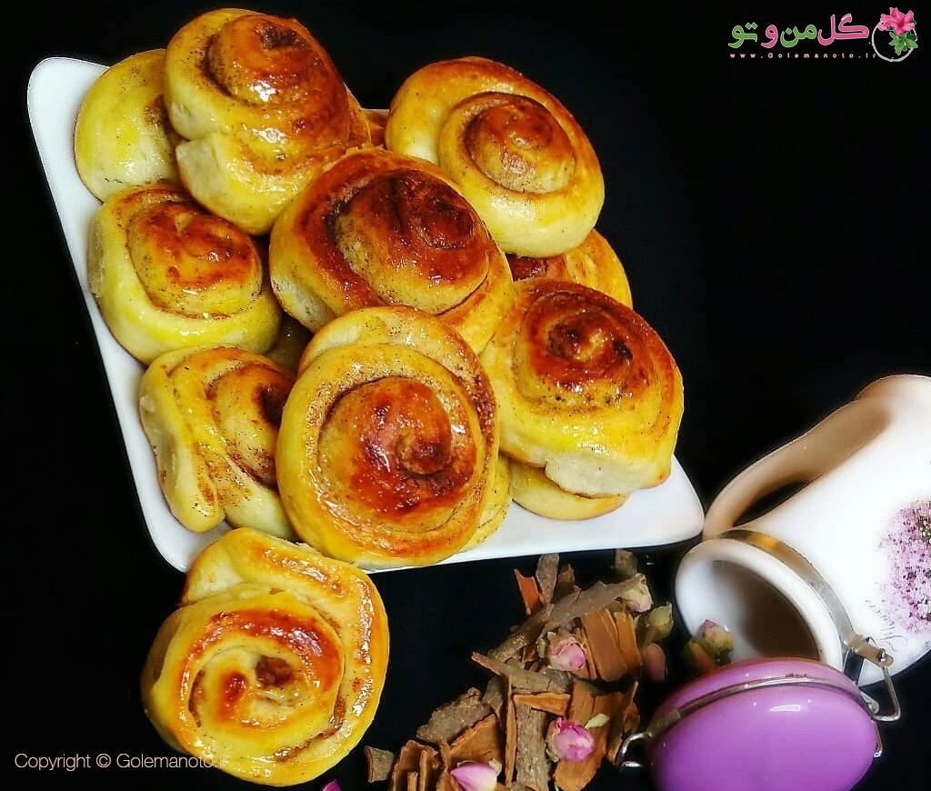 طرز تهیه نان رول دارچینی خوشمزه و بی نظیر