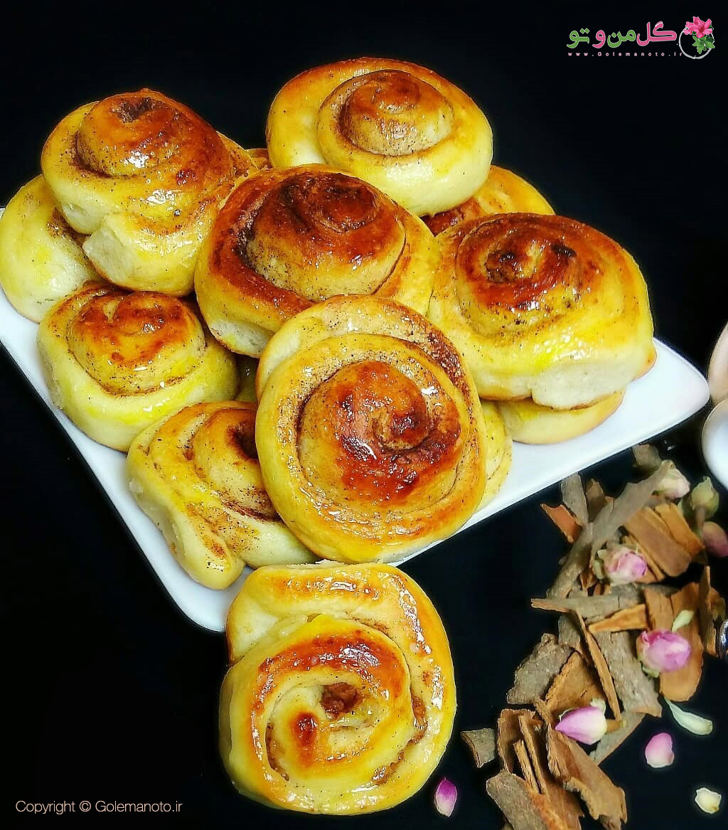 طرز تهیه نان رول دارچيني
