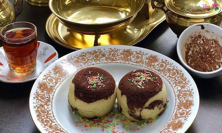 طرز تهیه کیک فنجونی بدون نیاز به فر