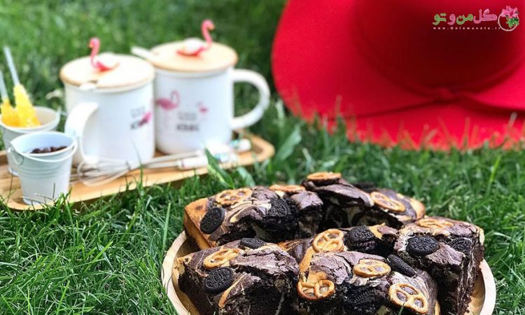 طرز تهیه ماربلد برانيز کیک شکلاتی