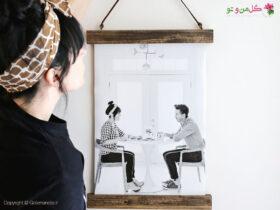 آموزش ساخت قاب عکس دیواری آویز