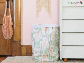 DIY Laundry Basket golemanoto آموزش ساخت سبد رخت چرک شیک و آسون