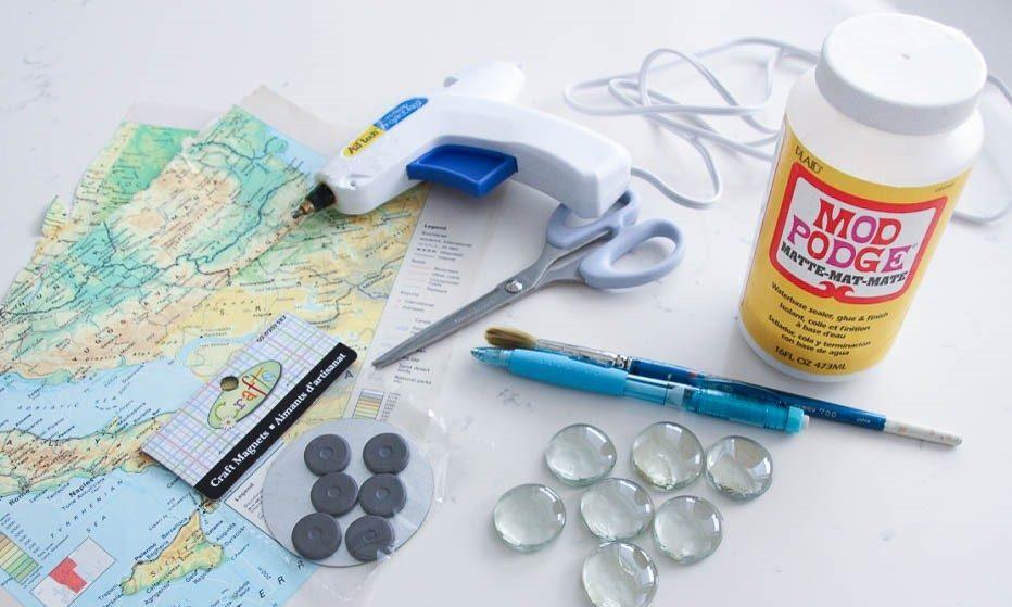 مواد مورد نیاز ساخت مگنت جغرافیایی