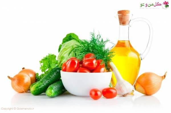 سبزی های تازه در رژیم غذایی