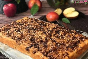 طرز تهیه کیک سیب با خامه ترش