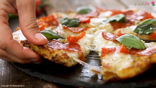 پیتزا با کراست سیب زمینی