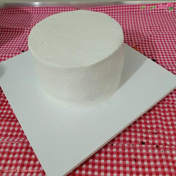 تزیین کیک با نون بستنی