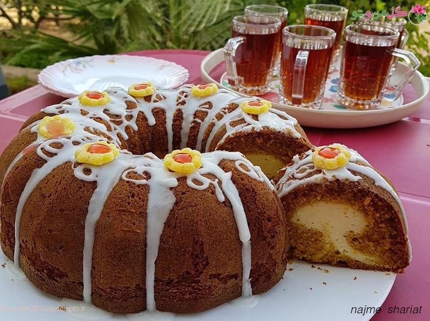 طرز تهیه بانت کیک کدو حلوایی با مغز پنیرخامه ای