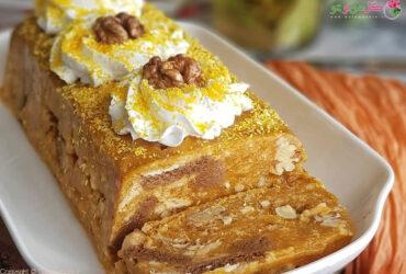 طرز تهیه کیک موزاییک کدو حلوایی + پوره کدو حلوایی