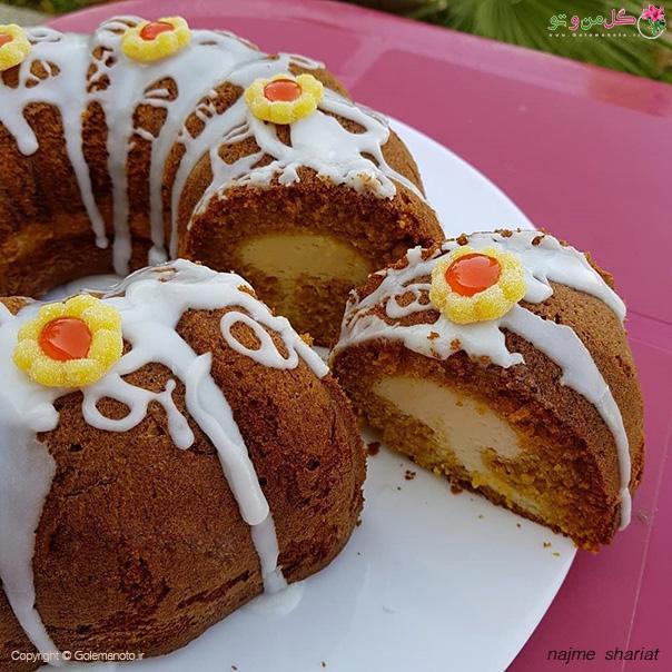 بانت کیک کدو حلوایی با مغز پنیرخامه ای