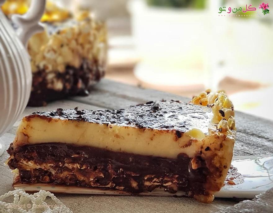 طرز تهیه تارت پفیلا شکلاتی - طرز تهیه تارت پاپ کورن شکلاتی