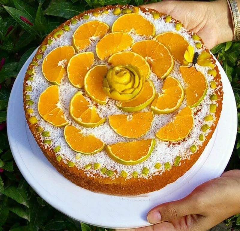 43445452 401308983739512 6496069366766990338 n کیک نارنگی تابه ای خوشمزه